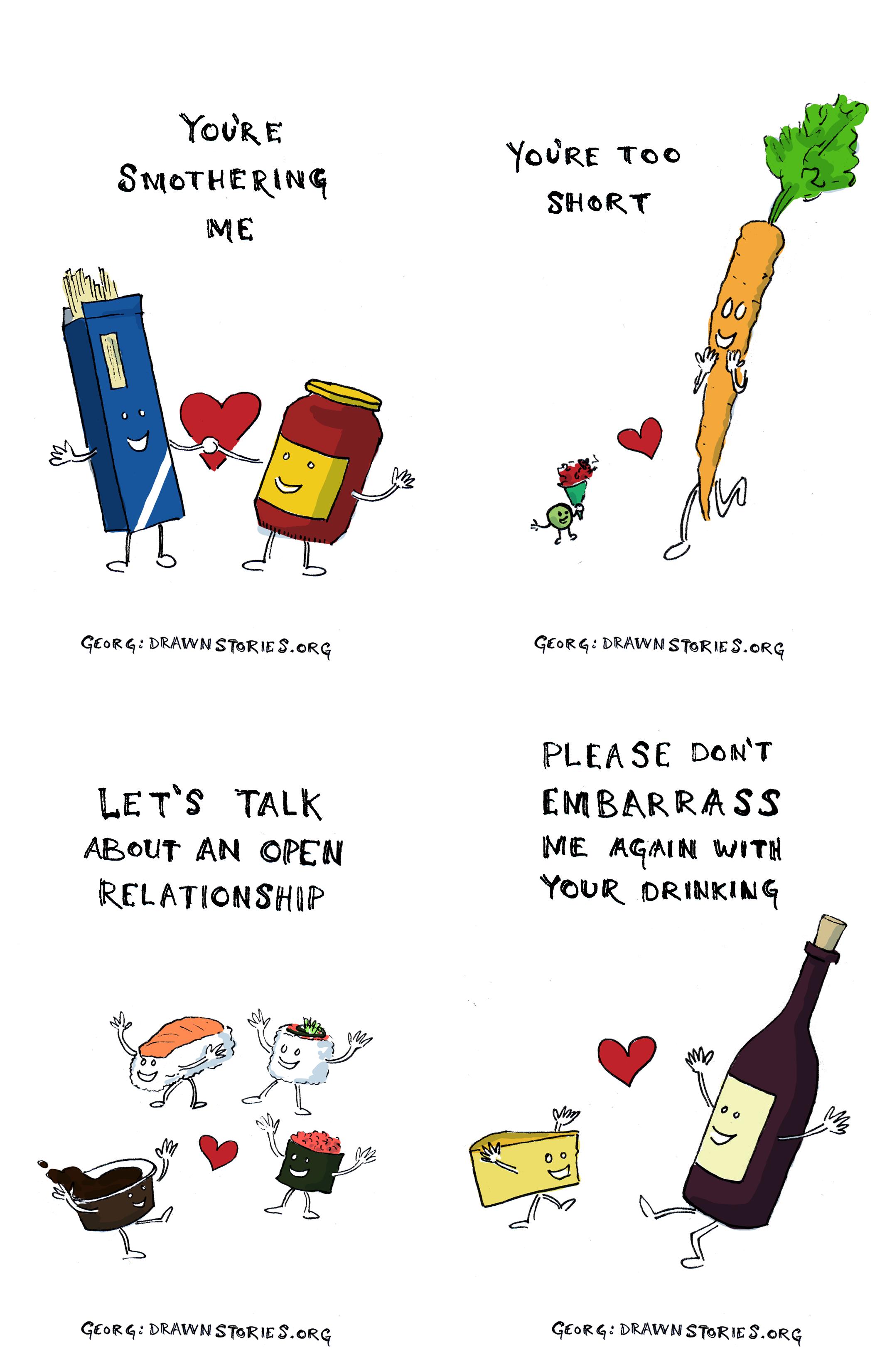 Foolishness – Food Valentines Cards
